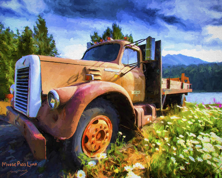 Flowers Painting - Moose Pass Limo by David Wagner