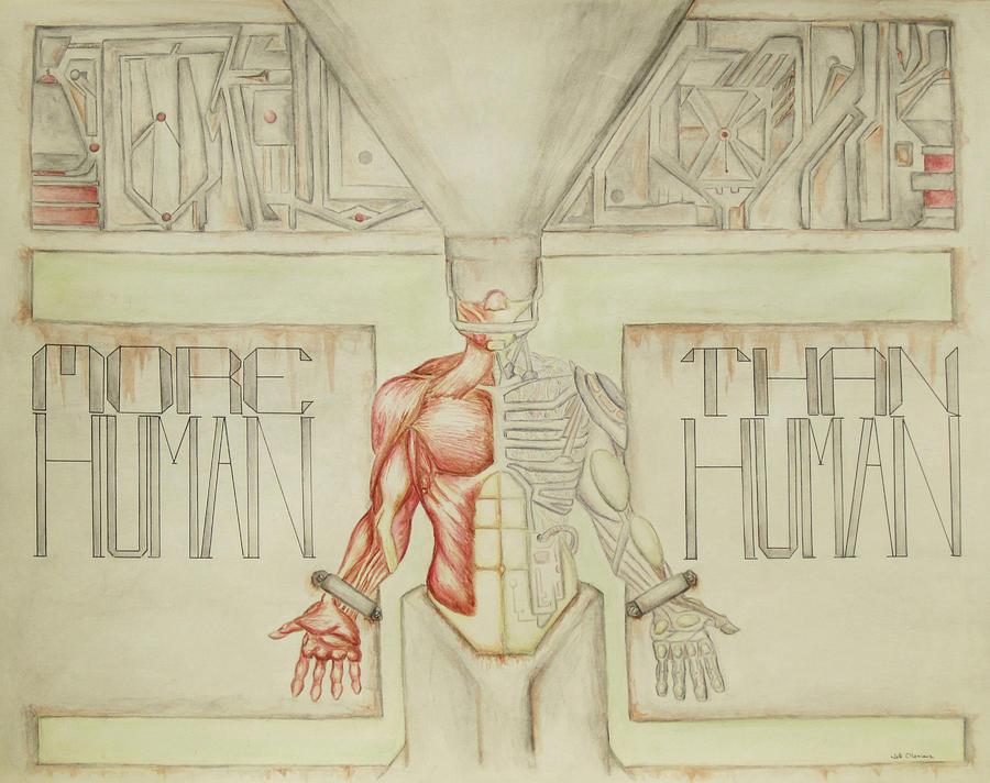 Anatomy Painting - More Human Than Human by Jeffrey Oleniacz