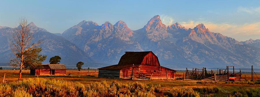 Barn Photograph - Mormon Row And The Grand Tetons  by Ken Smith