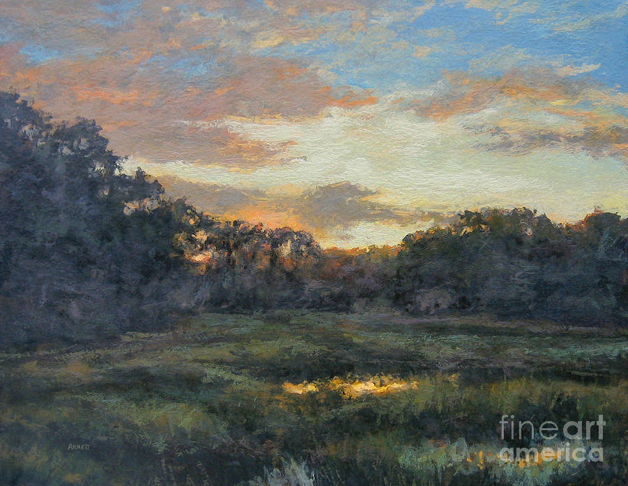 Dawn Painting - Morning On The Marsh - Wellfleet by Gregory Arnett