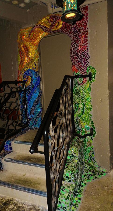 Mosaic Doorway Ceramic Art - Mosaic Doorway by Charles Lucas