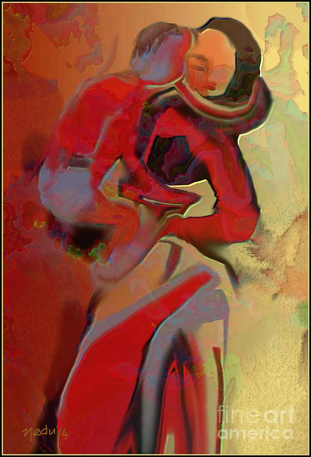 Fine Art Painting - Mother And Child by Nedunseralathan R