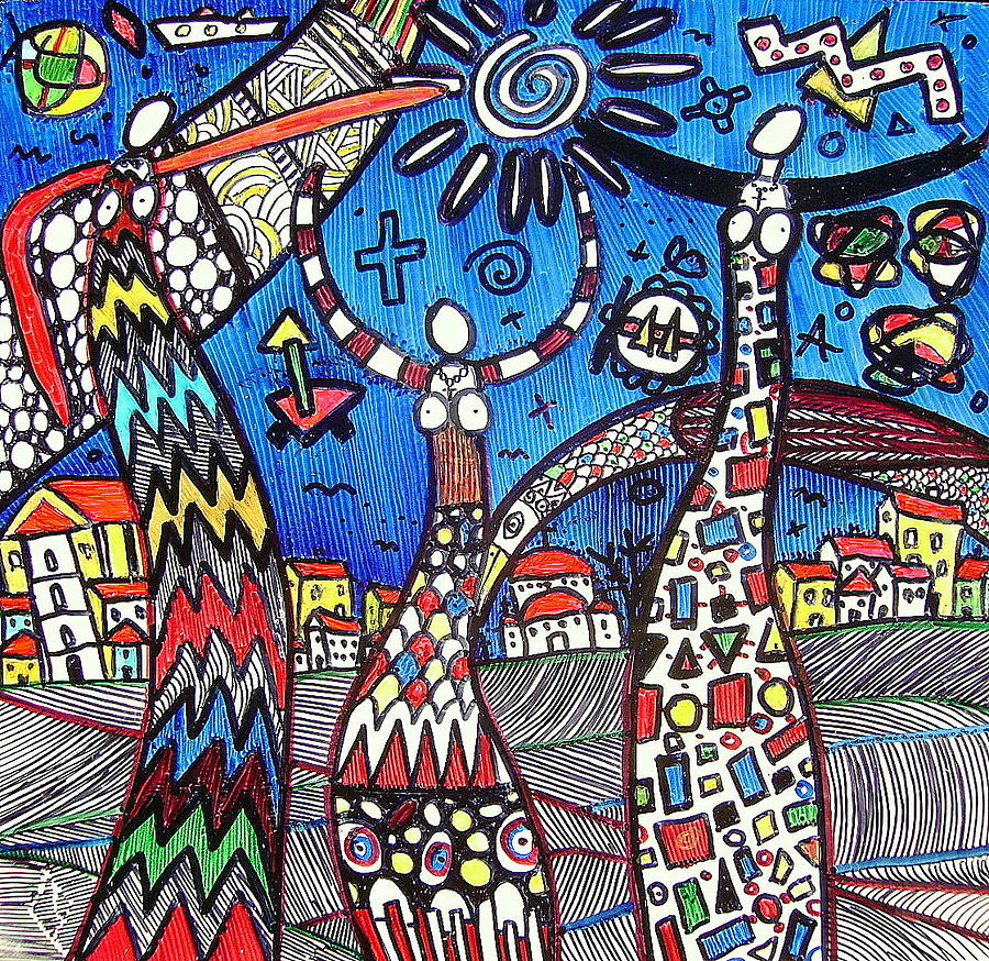 Abstract Drawings Drawing - Mothers ... by Branko Jovanovic