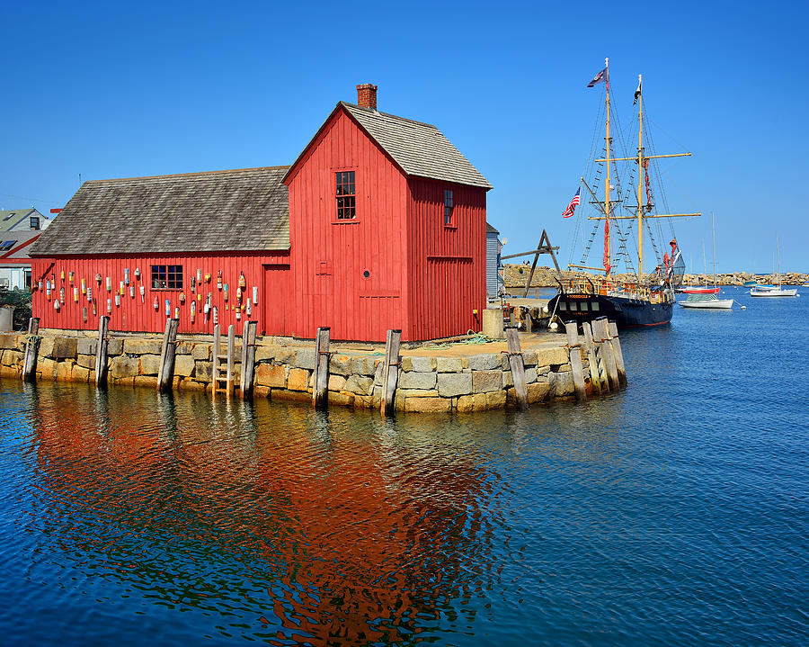 Motif Number One Rockport Lobster Shack Maritime Photograph by Jon Holiday