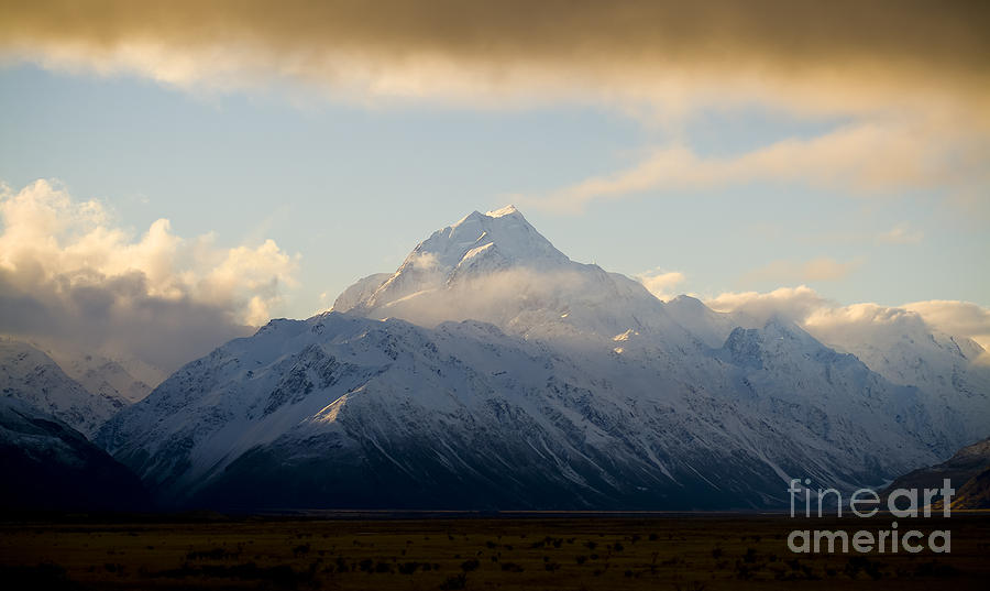 Aspiring Photograph - Mount Cook New Zeland by Tim Hester