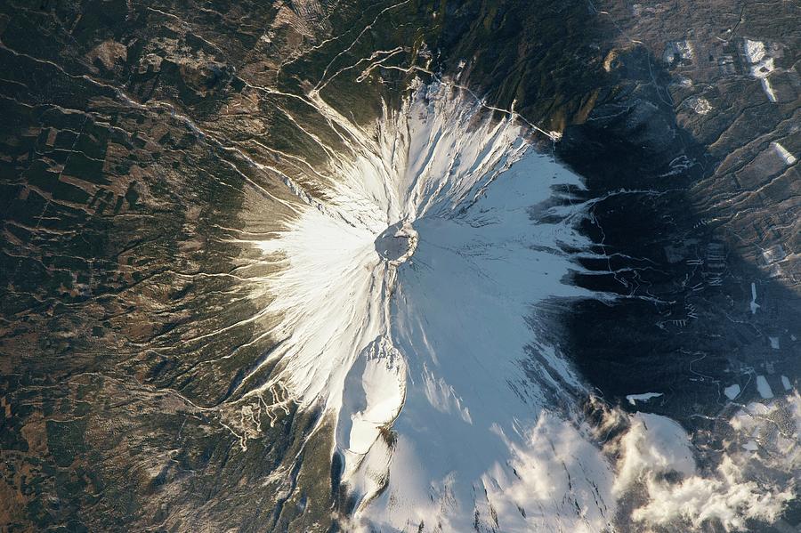 Volcano Photograph - Mount Fuji by Nasa/science Photo Library