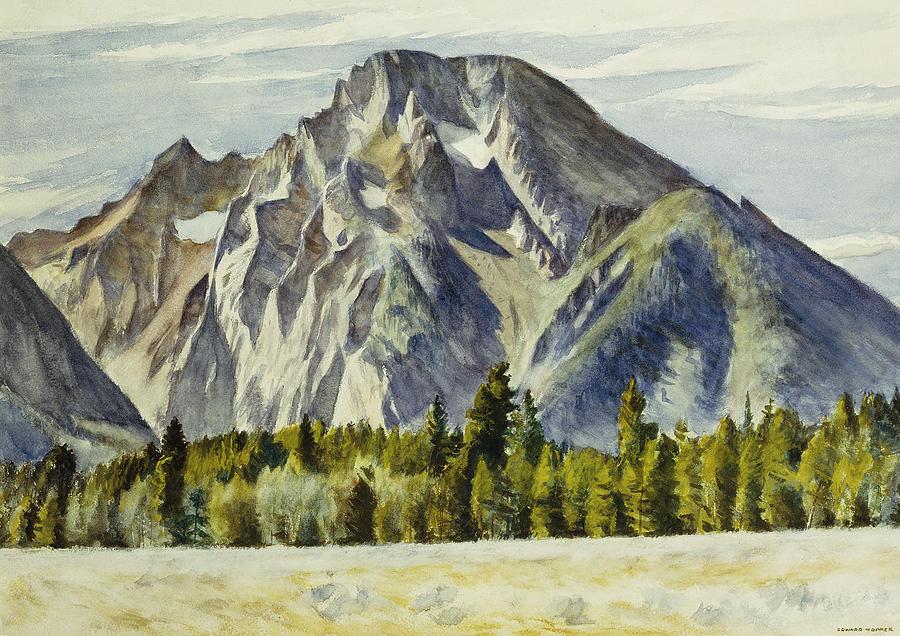 Edward Hopper Painting - Mount Moran by Edward Hopper