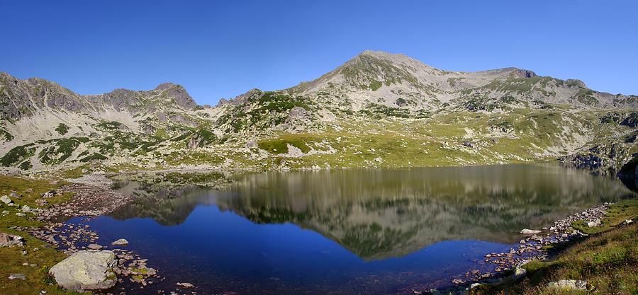 Alpine Photograph - Mountain And Lake by Ioan Panaite