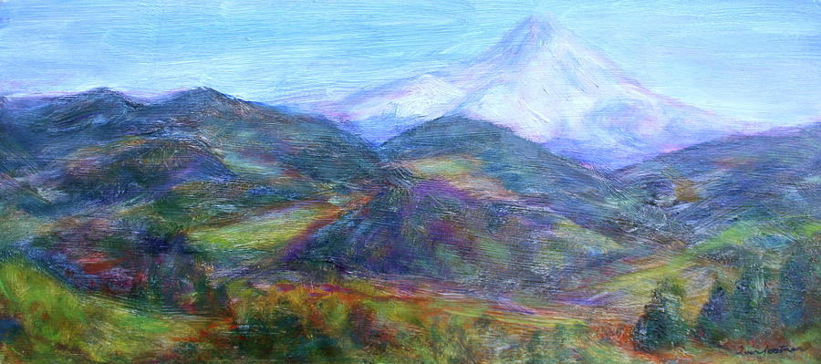 Expressionism Paintings Painting - Mountain Patchwork by Quin Sweetman