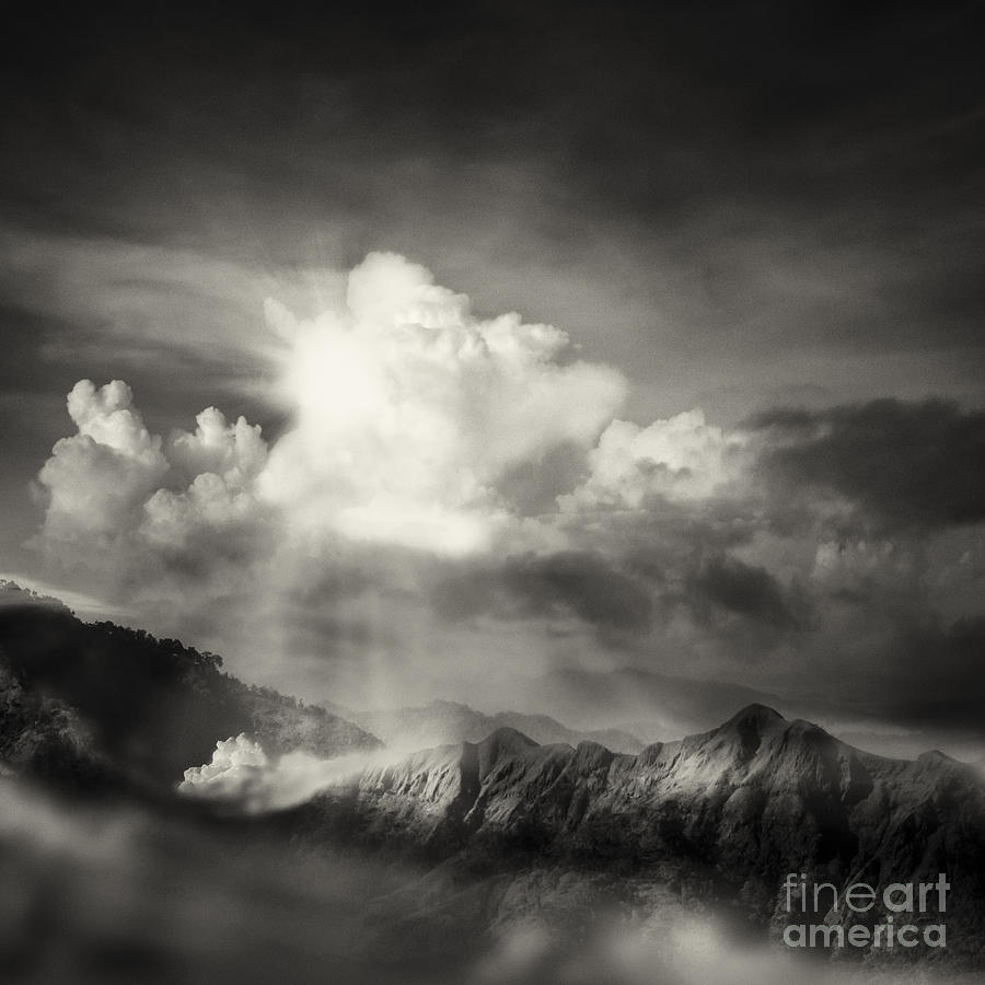 Above Photograph - Mountain View by Setsiri Silapasuwanchai