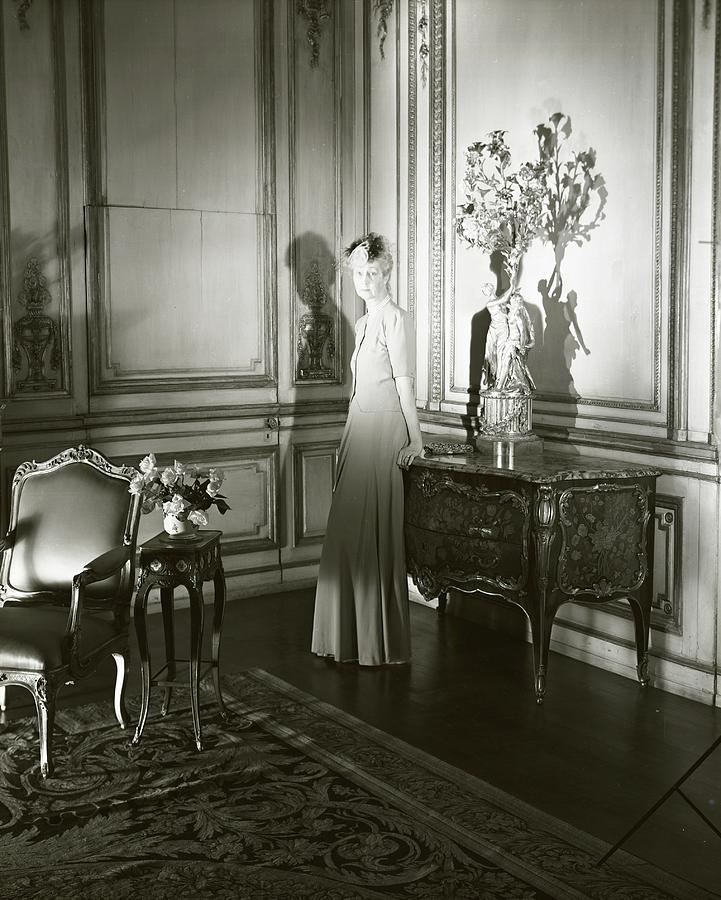 Mrs. Jacques Vanderbilt In An Ornate Room Photograph by Horst P. Horst