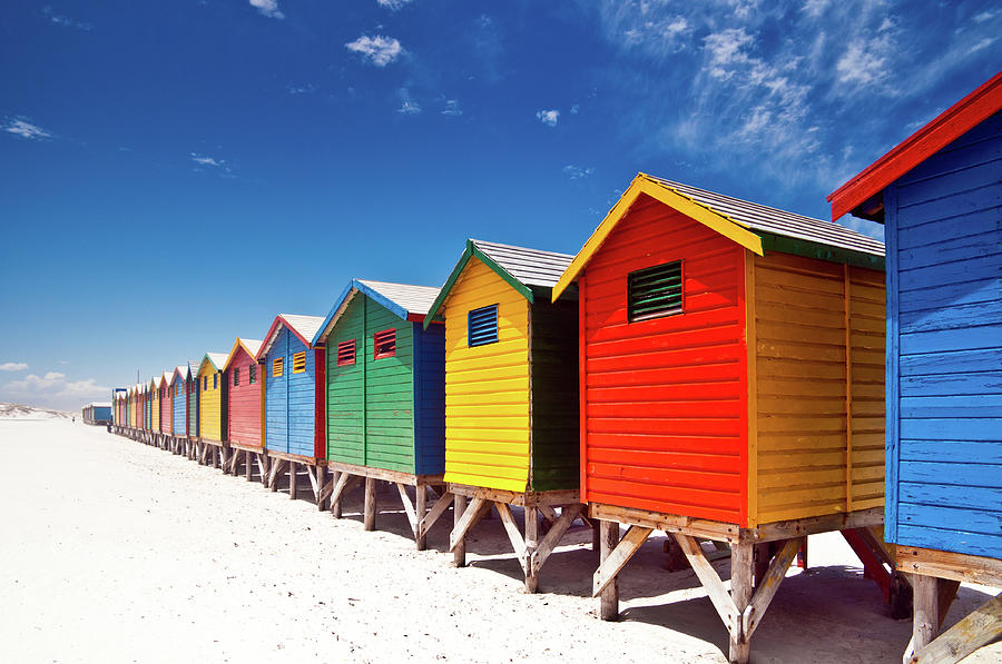 Muizenberg Beach Cape Town Photograph by Ferrantraite