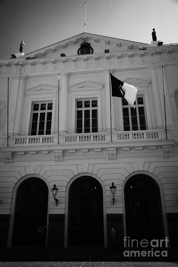 Santiago Photograph - Municipalidad De Santiago City Hall Building Chile by Joe Fox