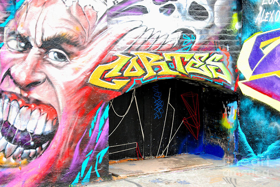 Mural Photograph - Mural With Teeth by Andrea Simon