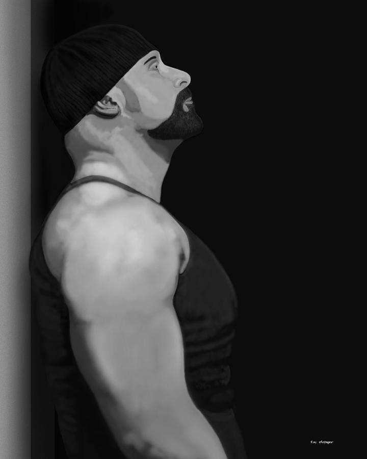 Male Painting - Muscle Shirt by Tim Stringer