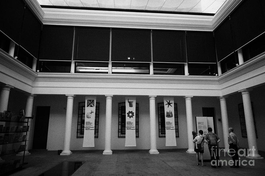 Chileno Photograph - museo chileno de art precolombino pre columbian art museum Santiago Chile by Joe Fox