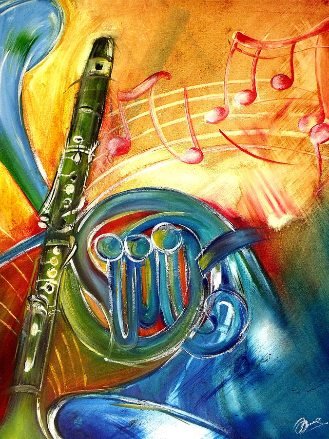 Musical Instruments Painting by Alenia Laguardia