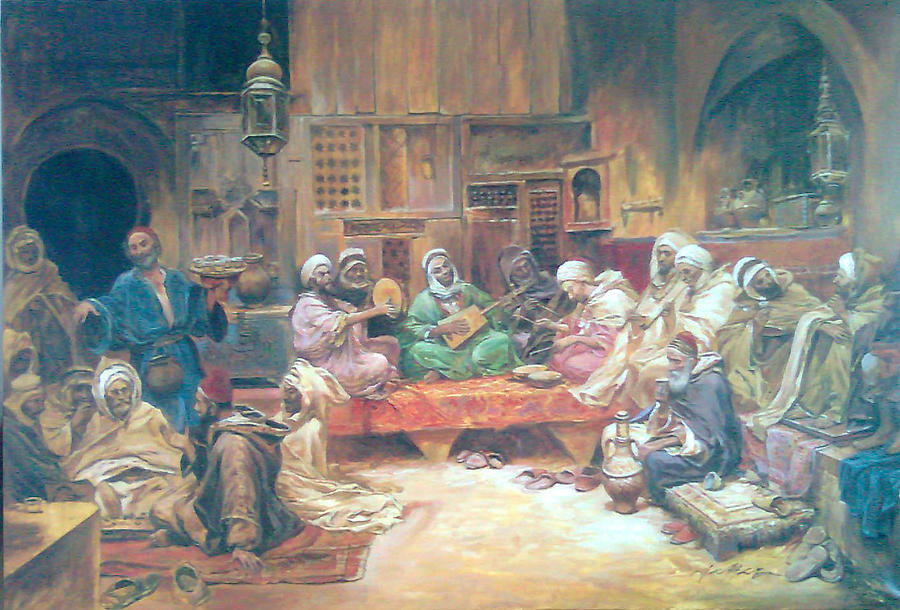 Musicians Painting - Musicians by Jaffo Jaffer