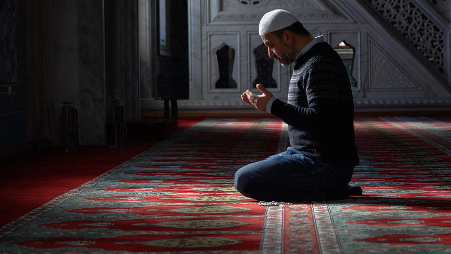 Muslims prayer in mosque Photograph by Mustafagull