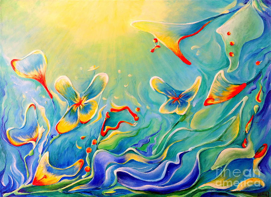 Abstract Painting - My Dream by Teresa Wegrzyn