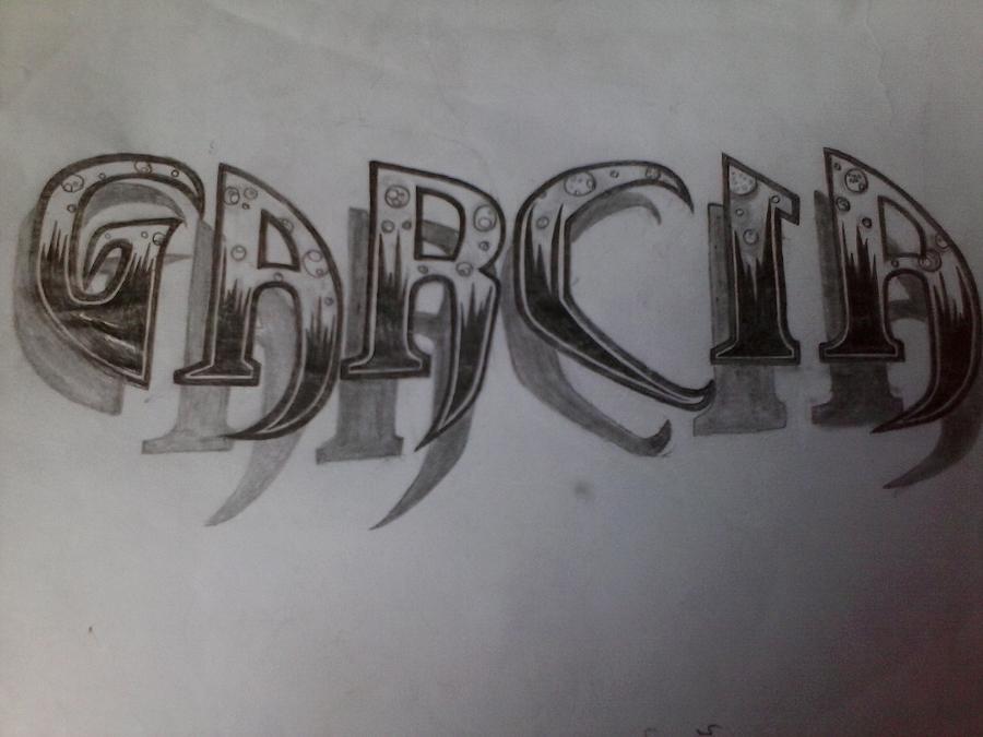 My Fonts Drawing by Filiberto Garcia
