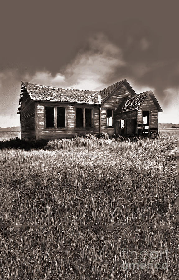 Old Shack Painting - My Own Private Idaho by Gregory Dyer