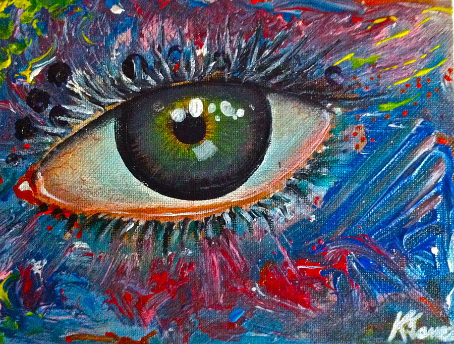 Eyes Painting - Mystery Stare by Kelvin James