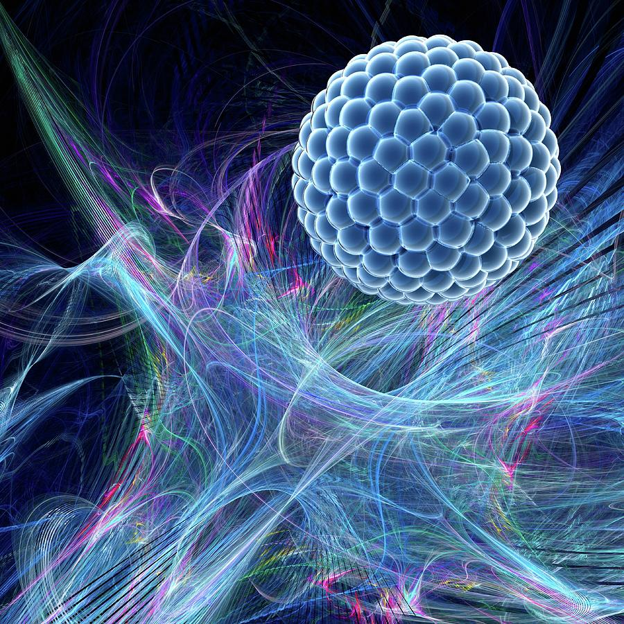 Artwork Photograph - Nanoparticle by Laguna Design/science Photo Library