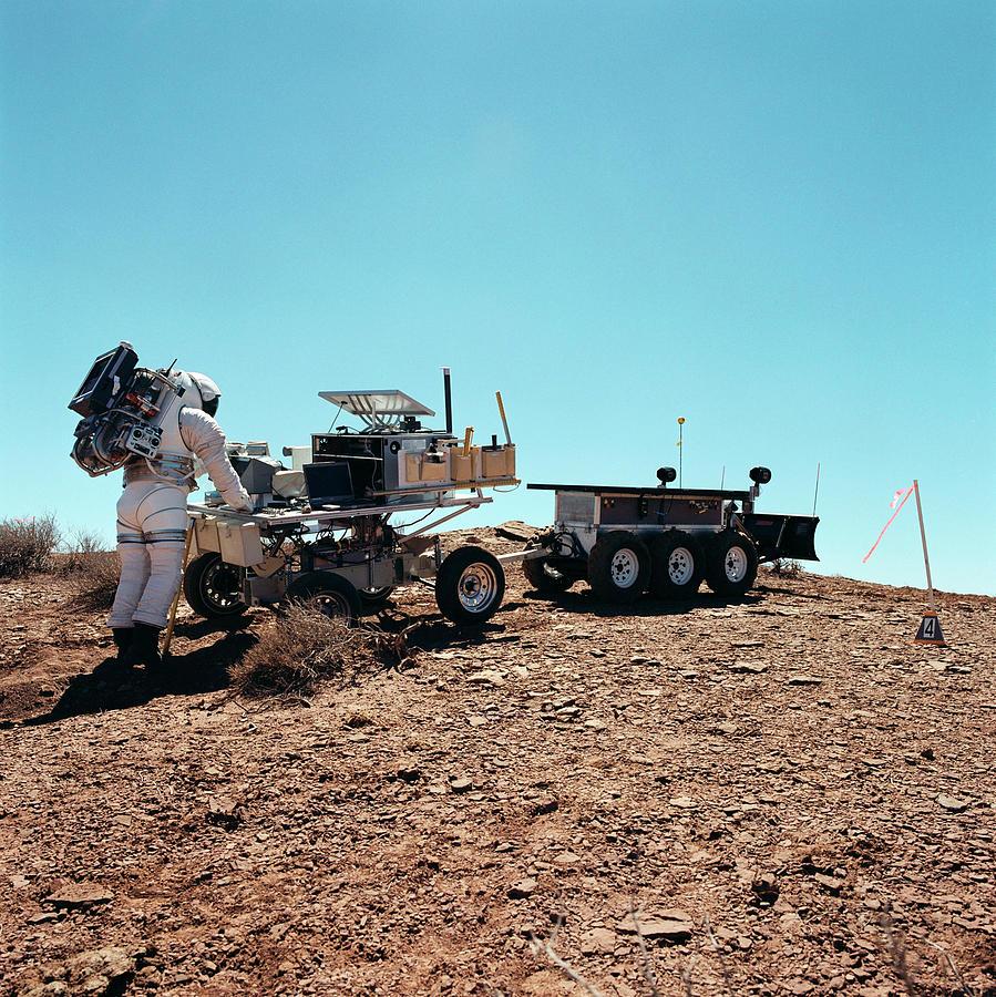 Machine Photograph - Nasa Field Test by Nasa/science Photo Library