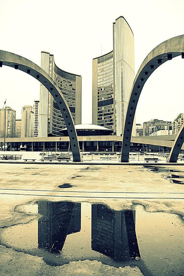 Toronto Photograph - Nathan Phillips Square by Valentino Visentini