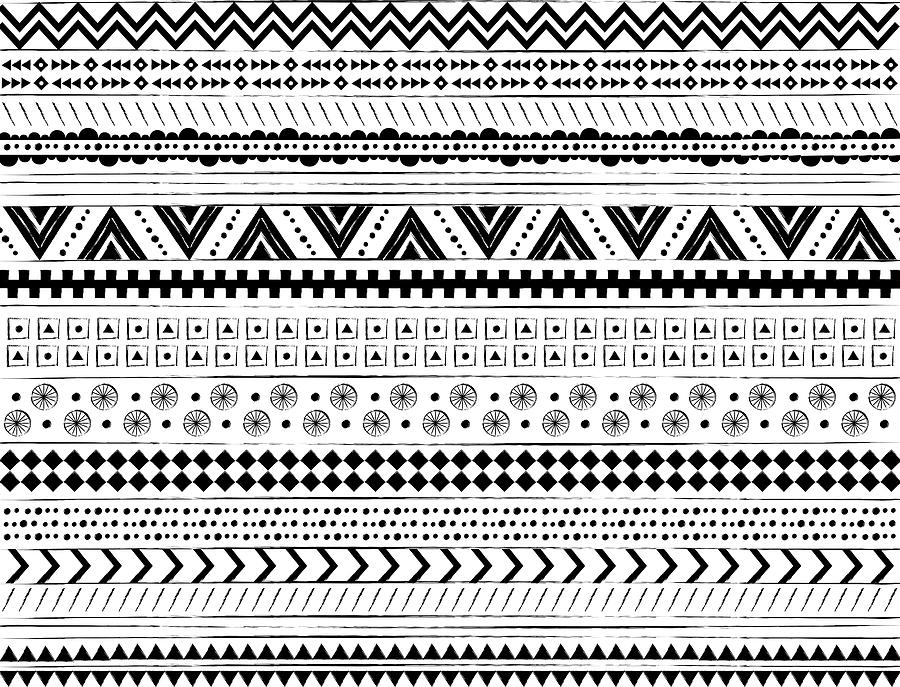 Pattern Photograph - Navajo Surf Repeat Print by Susan Claire