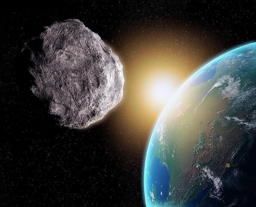 Near-earth Asteroid, Artwork Digital Art by Science Photo Library - Andrzej Wojcicki