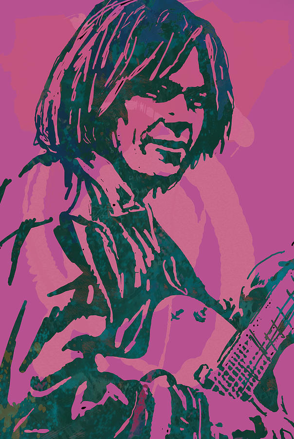 Portraits Drawing - Neil Young Pop Artsketch Portrait Poster by Kim Wang