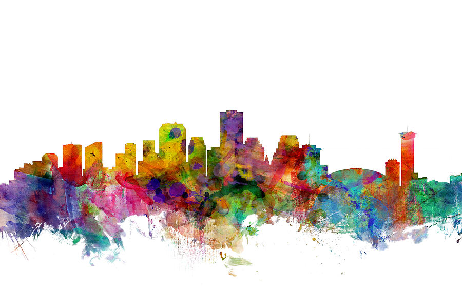 United States Digital Art - New Orleans Louisiana Skyline by Michael Tompsett