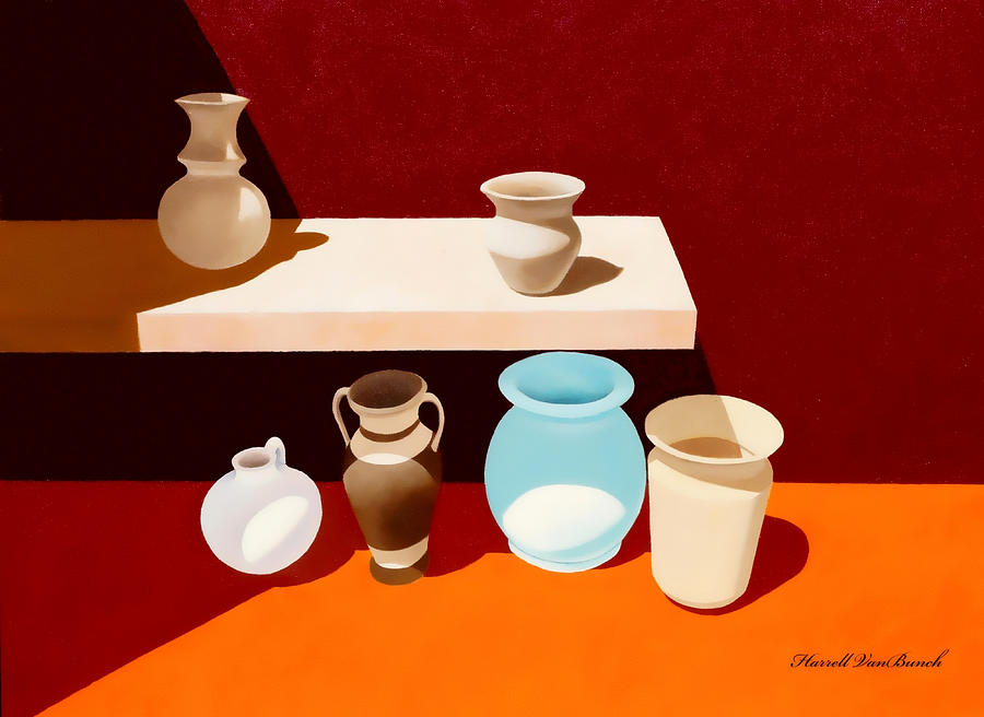 Pottery Painting - New Pottery by Van Bunch