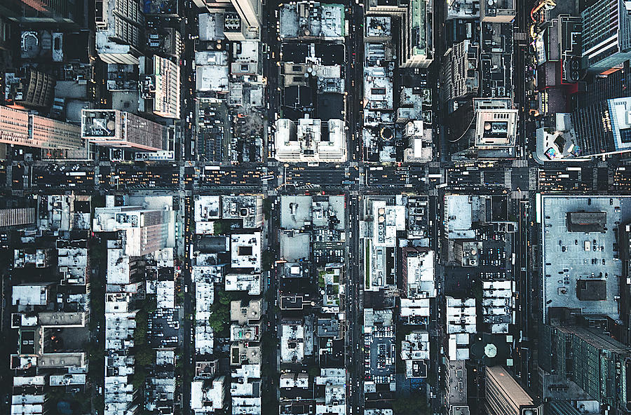 New York City Aerial View Of The Downtown Photograph by Franckreporter
