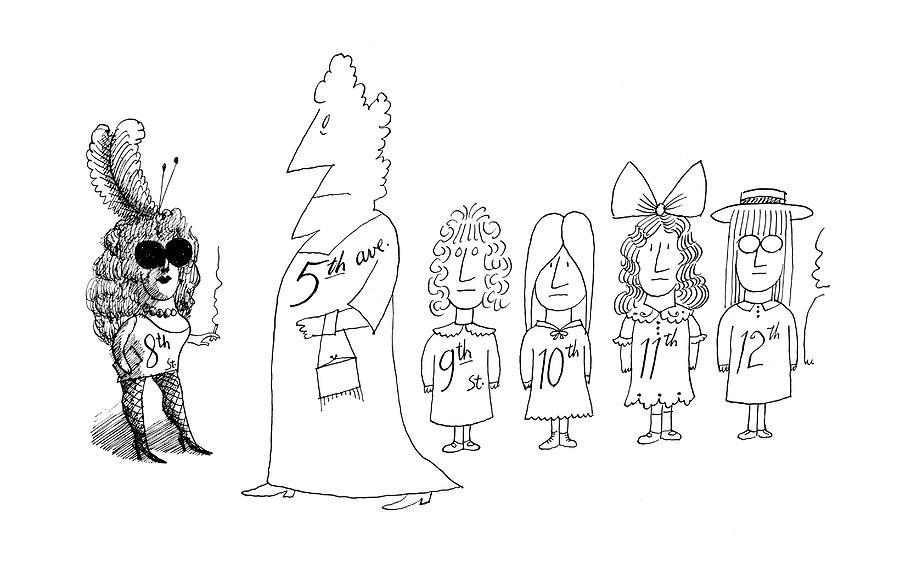 New Yorker December 7th, 1968 Drawing by Saul Steinberg