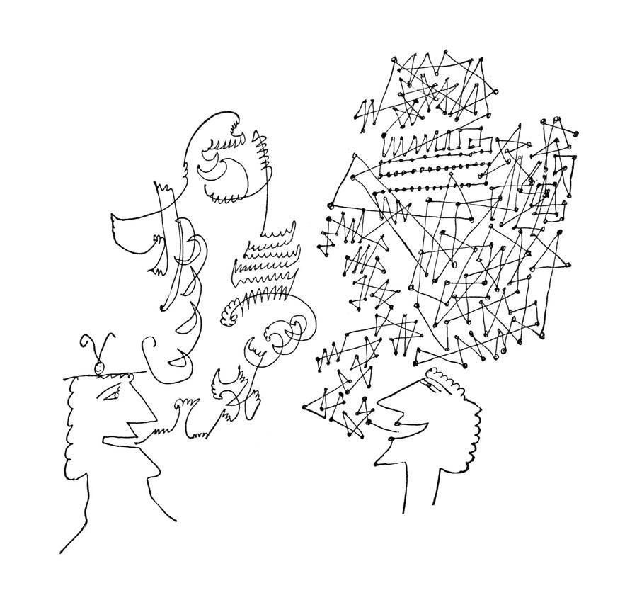 New Yorker June 1st, 1957 Drawing by Saul Steinberg