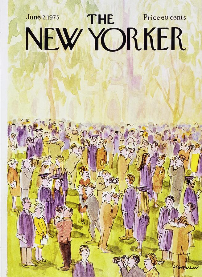 New Yorker June 2nd 1975 Painting by James Stevenson