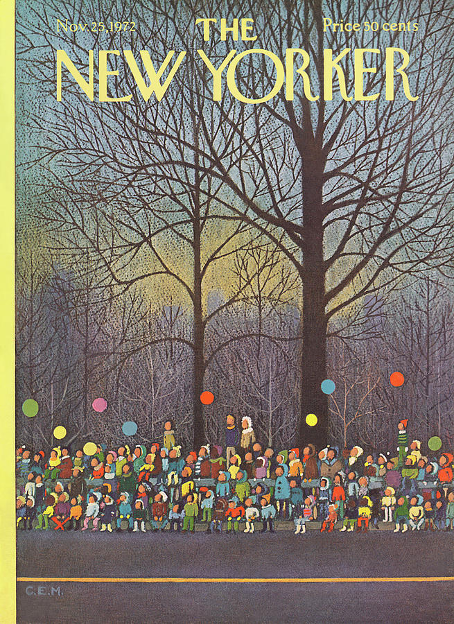 New Yorker November 25th, 1972 Painting by Charles E Martin