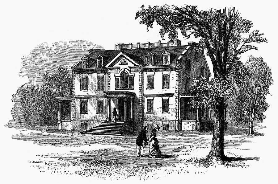 1876 Painting - Newark Schuyler Mansion by Granger