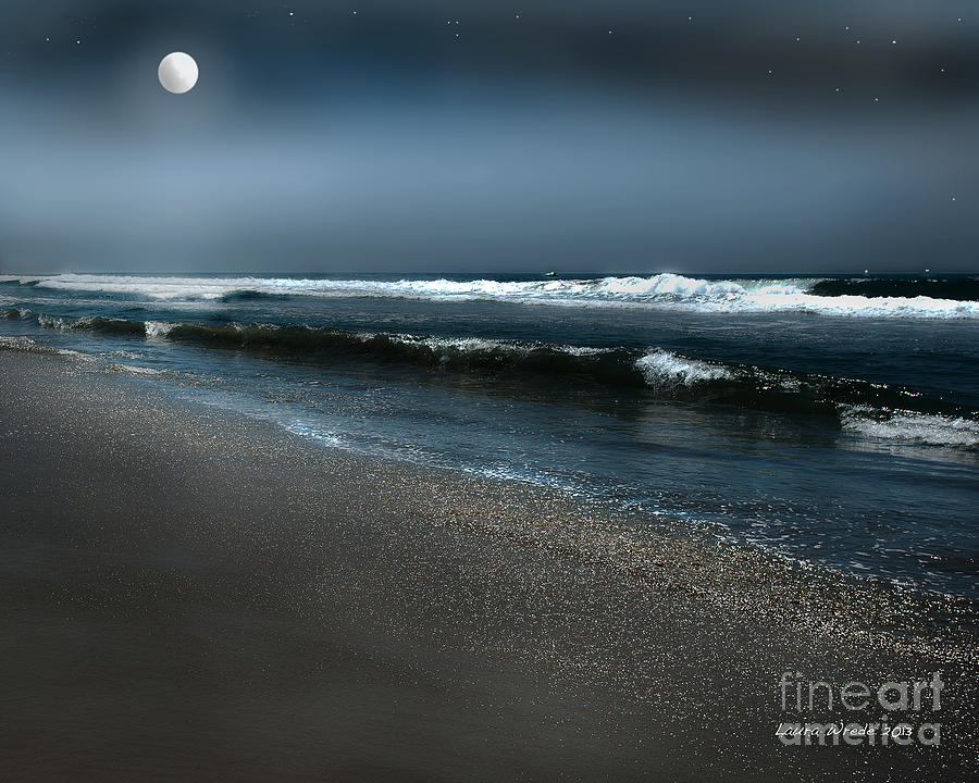 Beach Photograph - Night Beach  by Artist and Photographer Laura Wrede