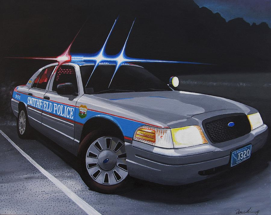 Police Painting - Night Patrol by Robert VanNieuwenhuyze