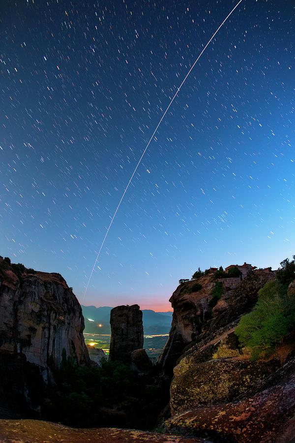 Nobody Photograph - Night Sky Over Meteora by Babak Tafreshi