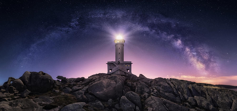 Lighthouse Photograph - Night Watcher by Carlos F. Turienzo