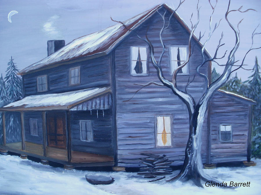 Original Painting - Nightfall by Glenda Barrett