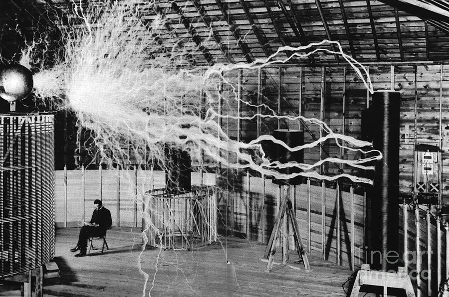 Science Photograph - Nikola Tesla Serbian-american Inventor by Science Source