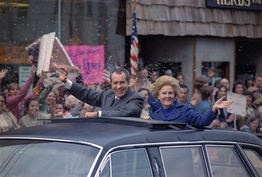 History Photograph - Nixon 1972 Re-election Campaign by Everett