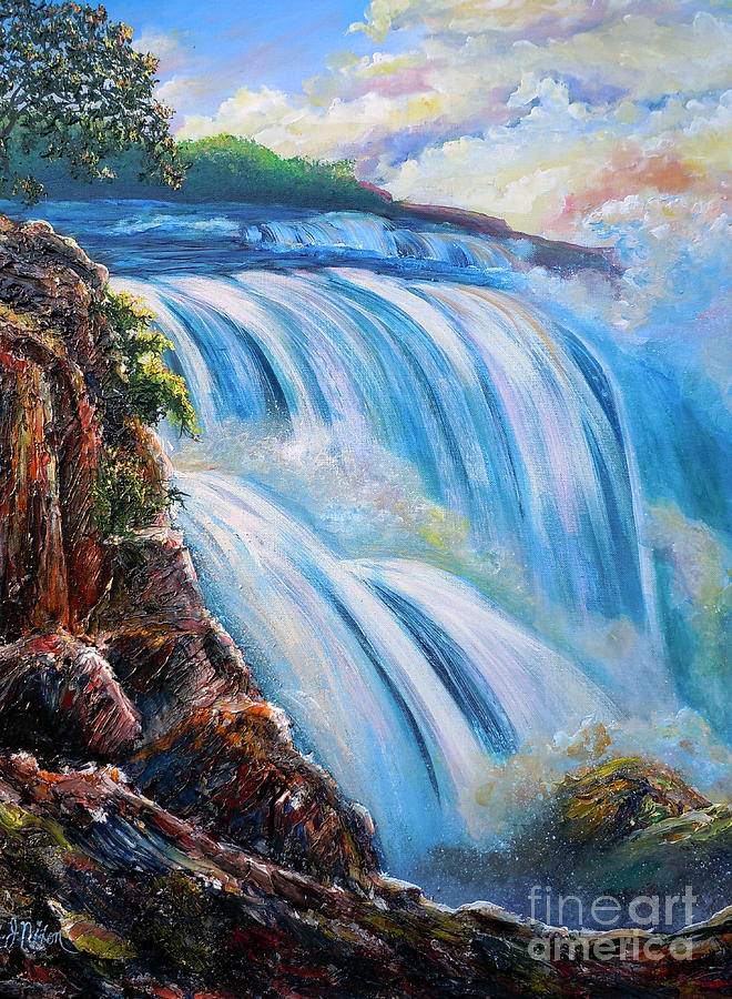 Artist Painting - Nixons Surging Flow Of Immense Power And Beauty by Lee Nixon