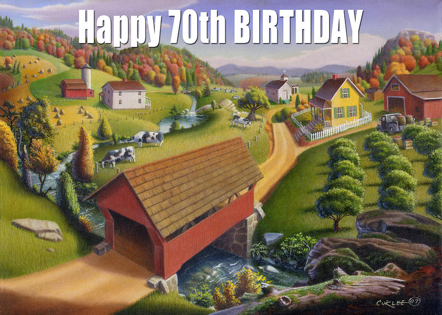 Happy Painting - no1 Happy 70th Birthday by Walt Curlee